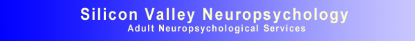 Silicon Valley Neuropsychology, Adult Neuropsychological Services